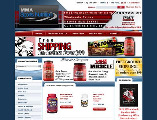 Sports Nutrition Web Design and Development CMS/Ecommerce