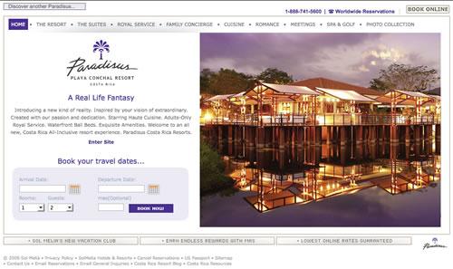 paradisus-playa-conchal-web-design