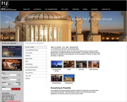 ME Madrid Website Design