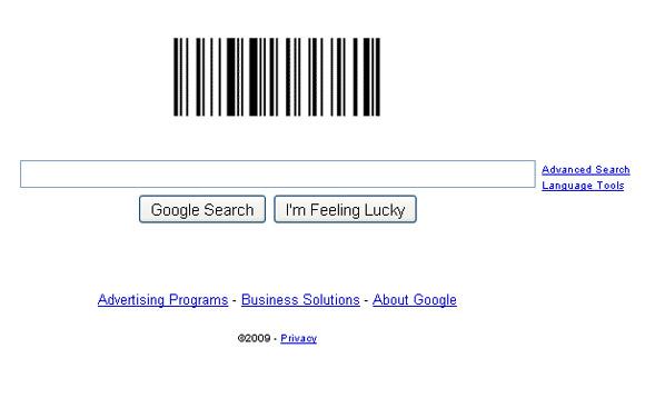 Google Barcode Logo Page