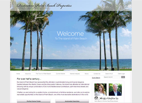 Distinctive Palm Beach Properties Home Page