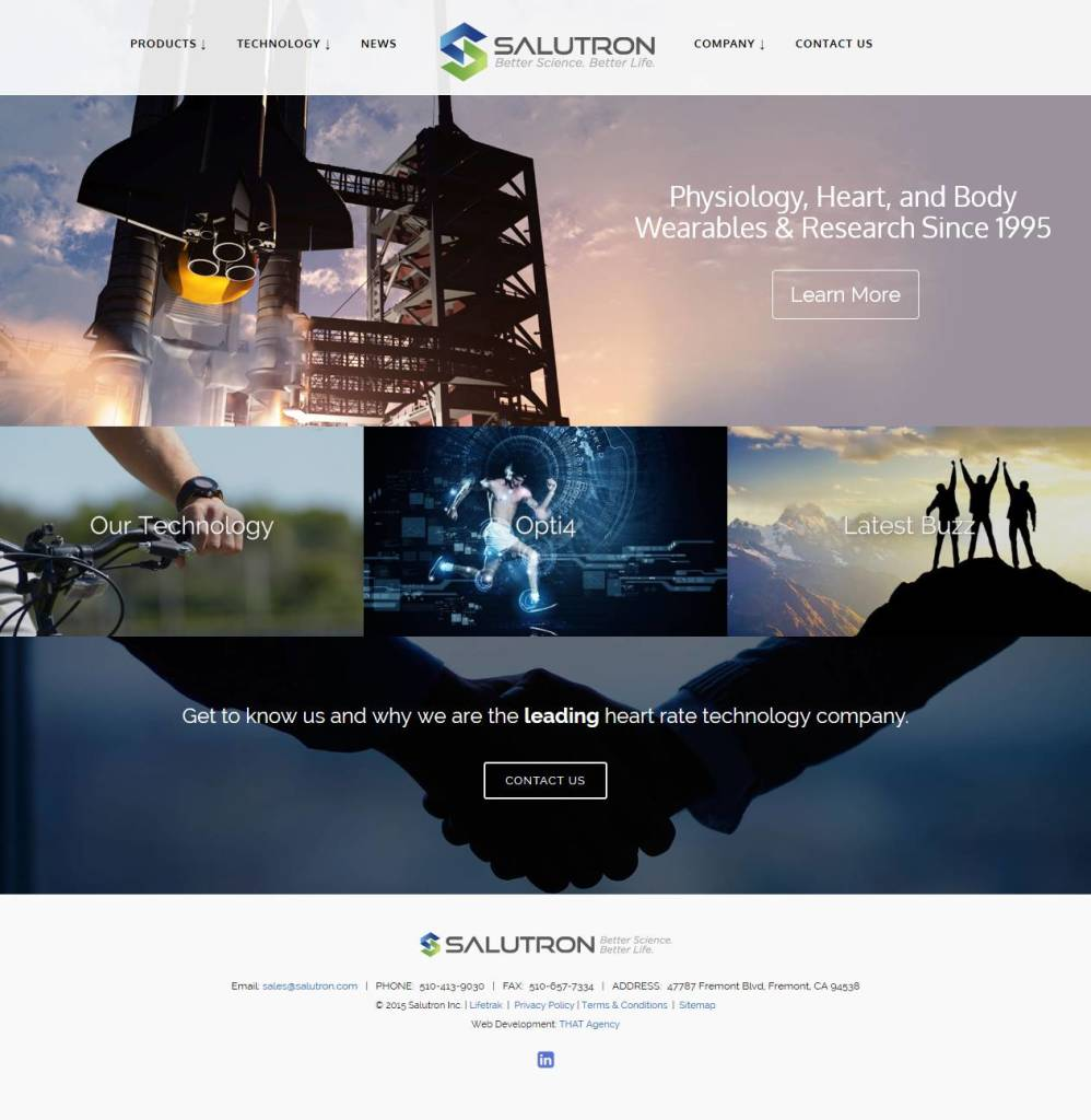 THAT Agency Launches New Salutron Website