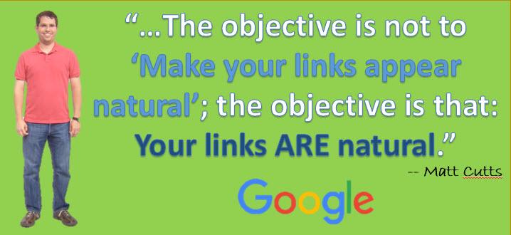 Natural Link Building | Matt Cutts Quote