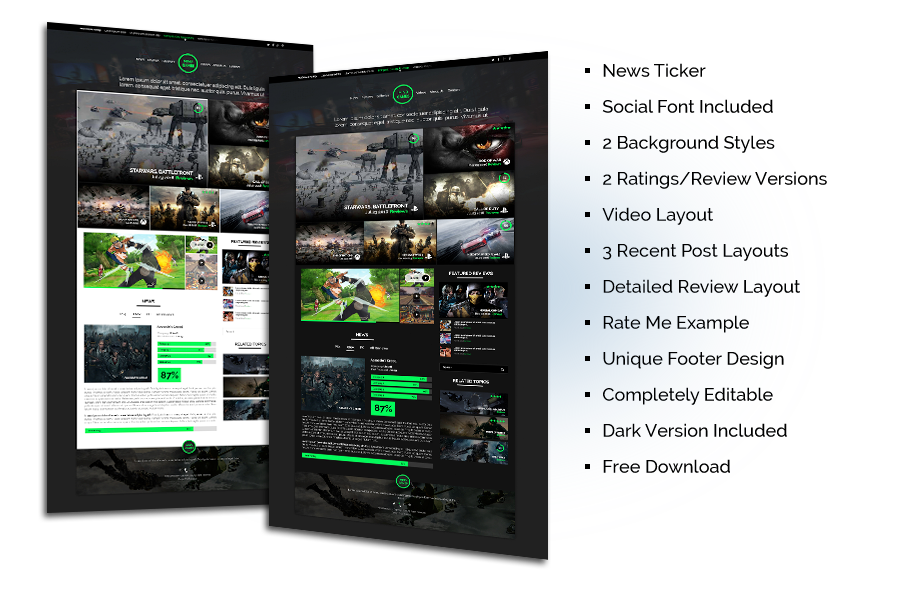 Game Reviews Template Free Download