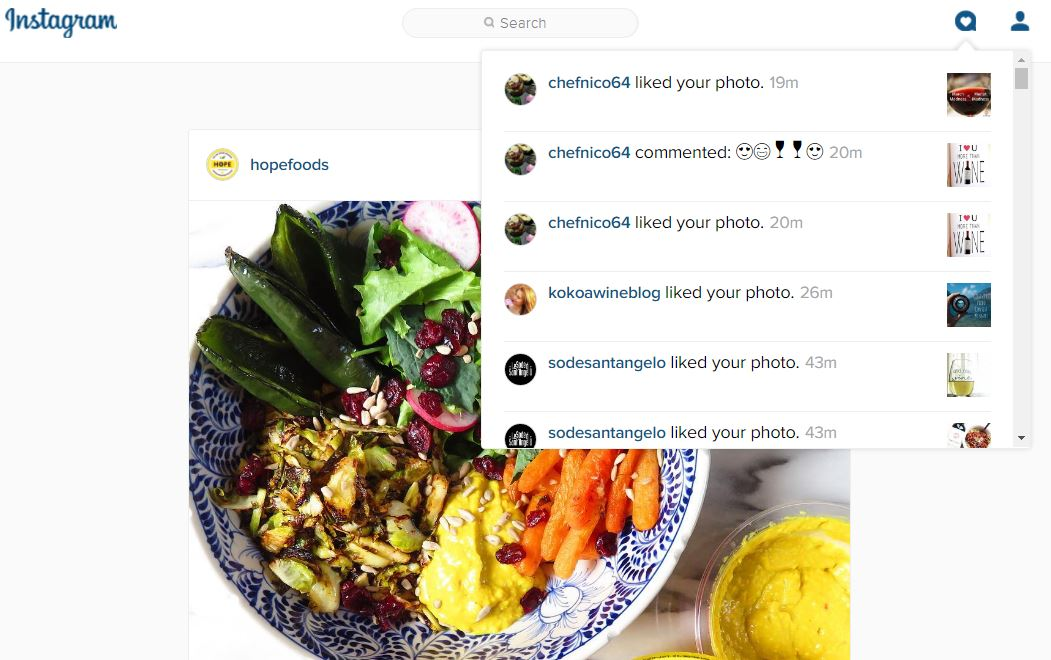 Instagram Now Shows Notifications on the Web