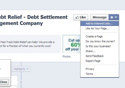 How to claim a Facebook Page step 1