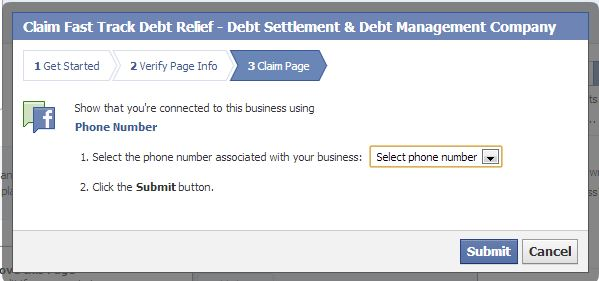 How to claim a Facebook Page step 4
