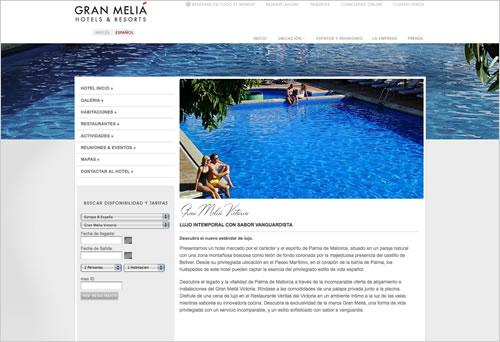 Gran Melia Victoria Hotel Web Design