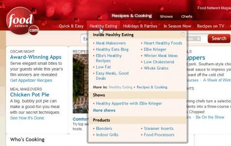 Vertical mega drop-down from foodnetwork.com