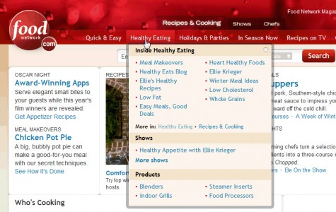 Vertical mega drop-down from foodnetwork.com