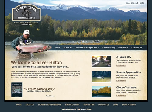 Silver Hilton Steelhead Lodge Site Launches