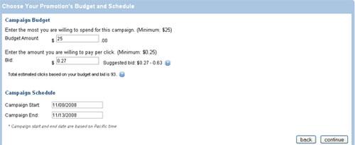 Set campaign budget