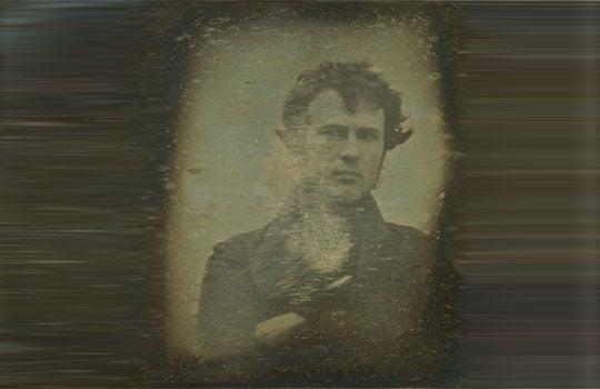 first selfie antique photo