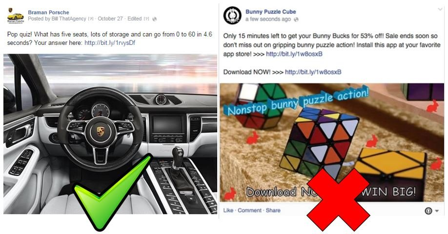 Facebook promotional posts