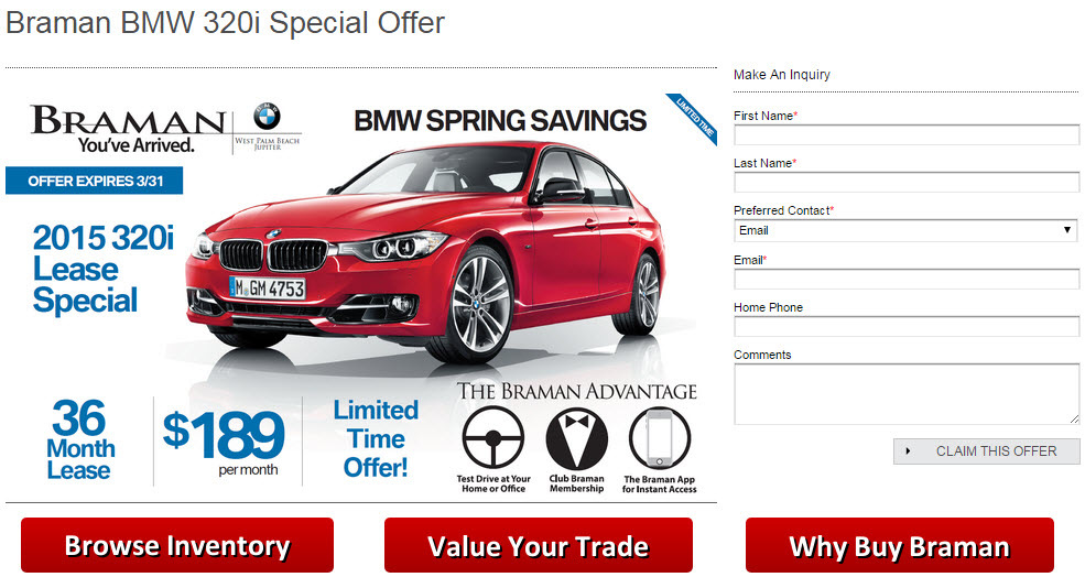 BMW 320i Specials Page - Desktop Version