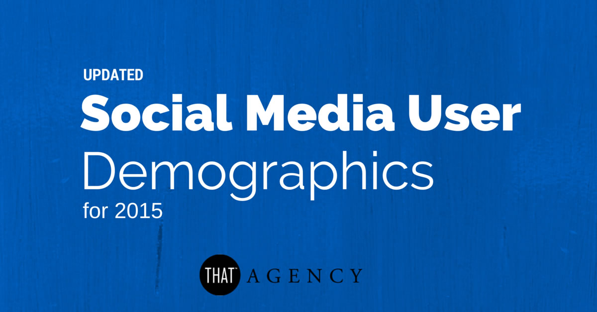 Social Media User Demographics from 2015