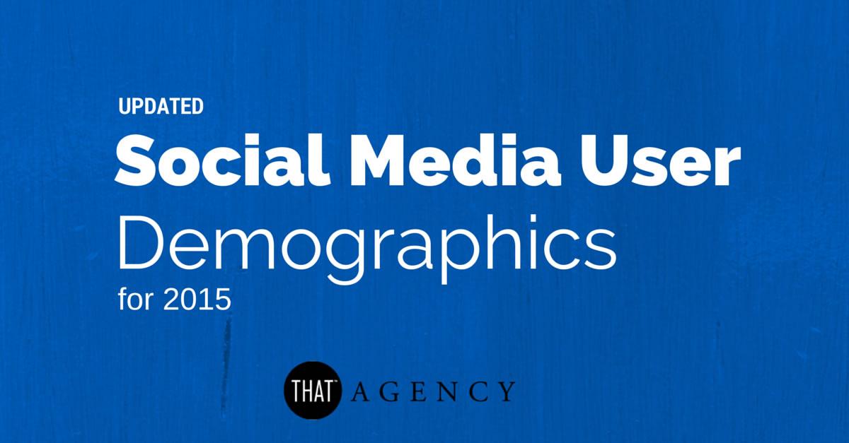 Social Media User Demographics from 2015