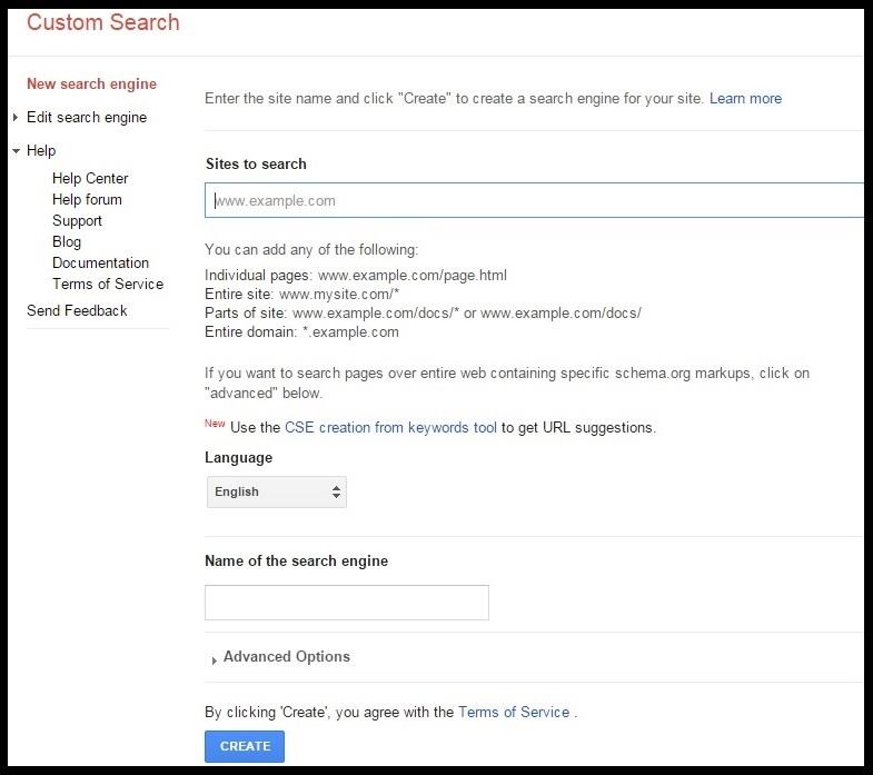 google custom search seo