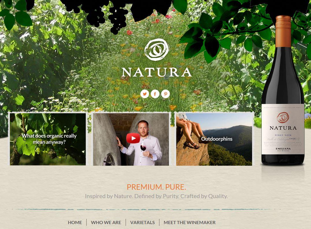 Natura Wines new website screenshot