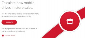 Google's Value of Mobile Calculator: In-Store