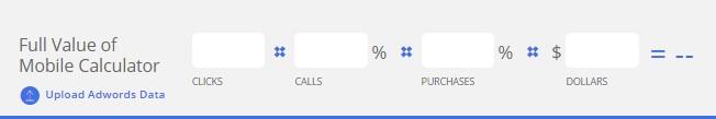 Google's Value of Mobile Calculator: Calls