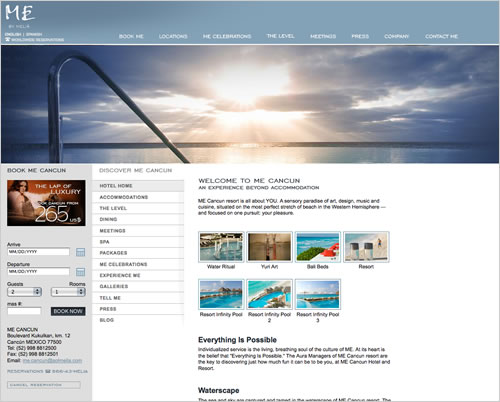 ME Cancun resort redesign by THAT Agency