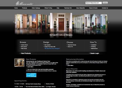 Masonite web design
