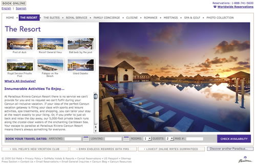 Paradisus Riviera Cancun by THAT Agency Web Design Firm
