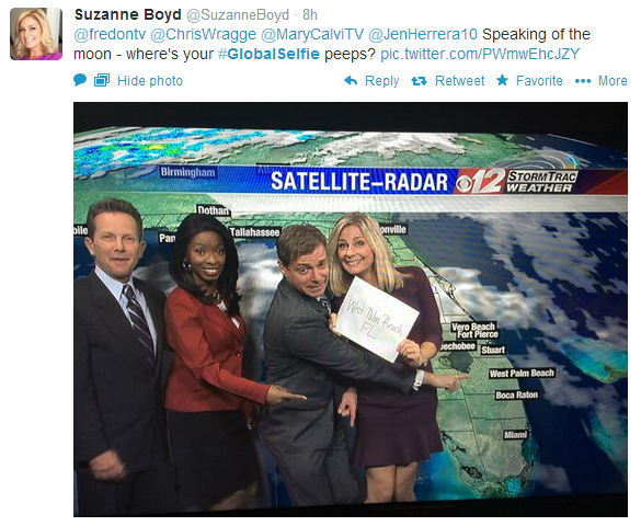 Have to support our local news team pointing to West Palm Beach!