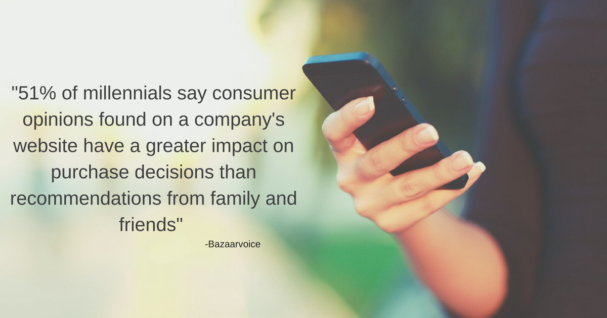 -51 of millennials say consumer opinions found on a company's website have a greater impact on purchase decisions than recommendations from family and friends-.png