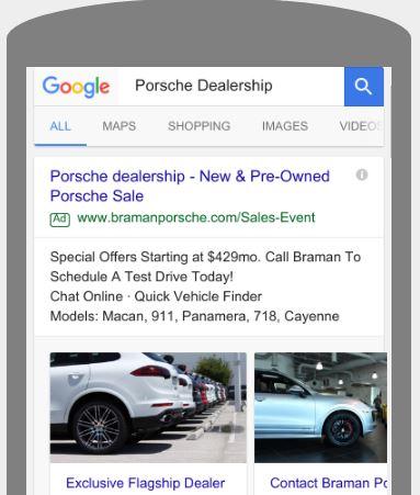 Car Dealership Visual Sitelinks Example