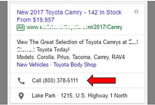 Click To Call Ad Extensions