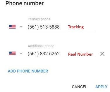 Google My Business Phone Tracking