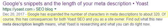 Meta Description Length Increase