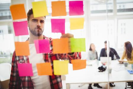 Content Mapping with Sticky Notes | THAT Agency