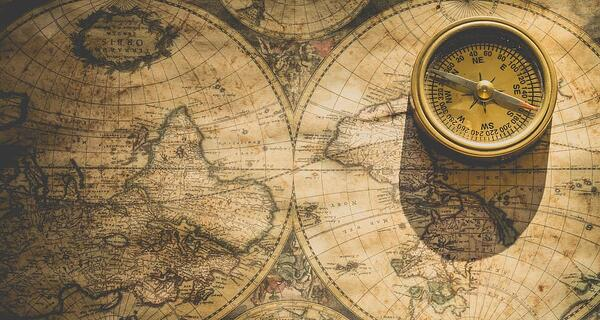 A map and compass illustrating that poor website navigation is an important reason why you need a new website | THAT Agency of West Palm Beach, Florida