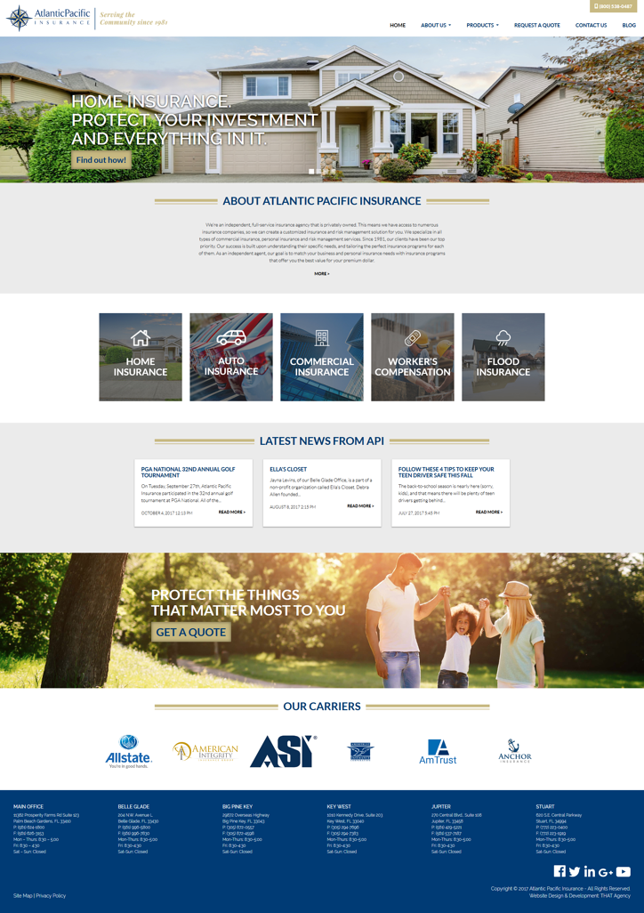 Atlantic Pacific Insurance Website Redesign Case Study