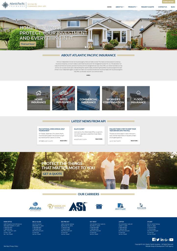Atlantic Pacific Insurance Website Redesign Case Study