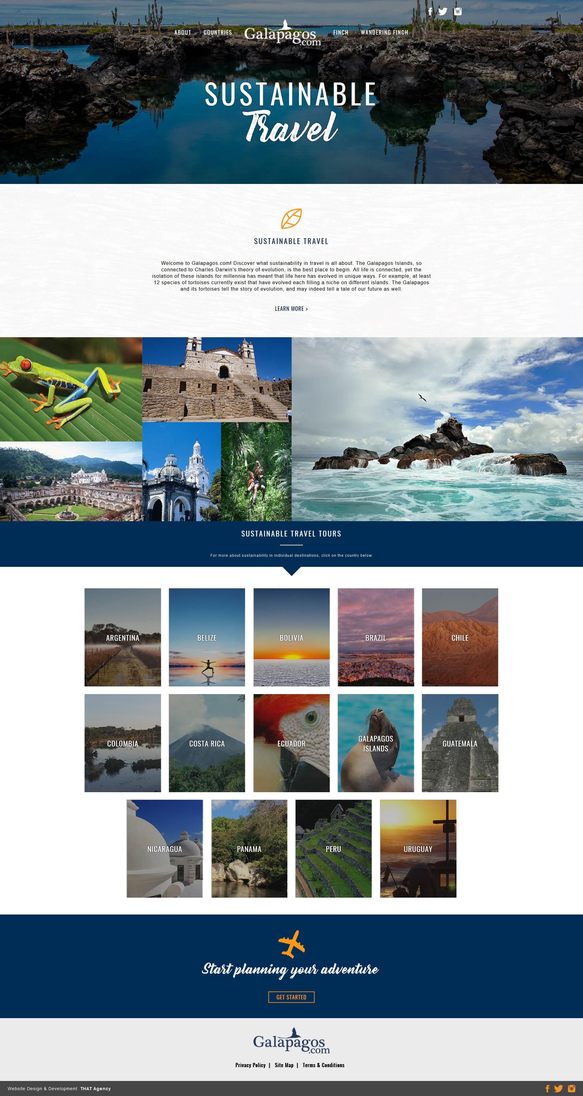 Galapagos.com Website Redesign