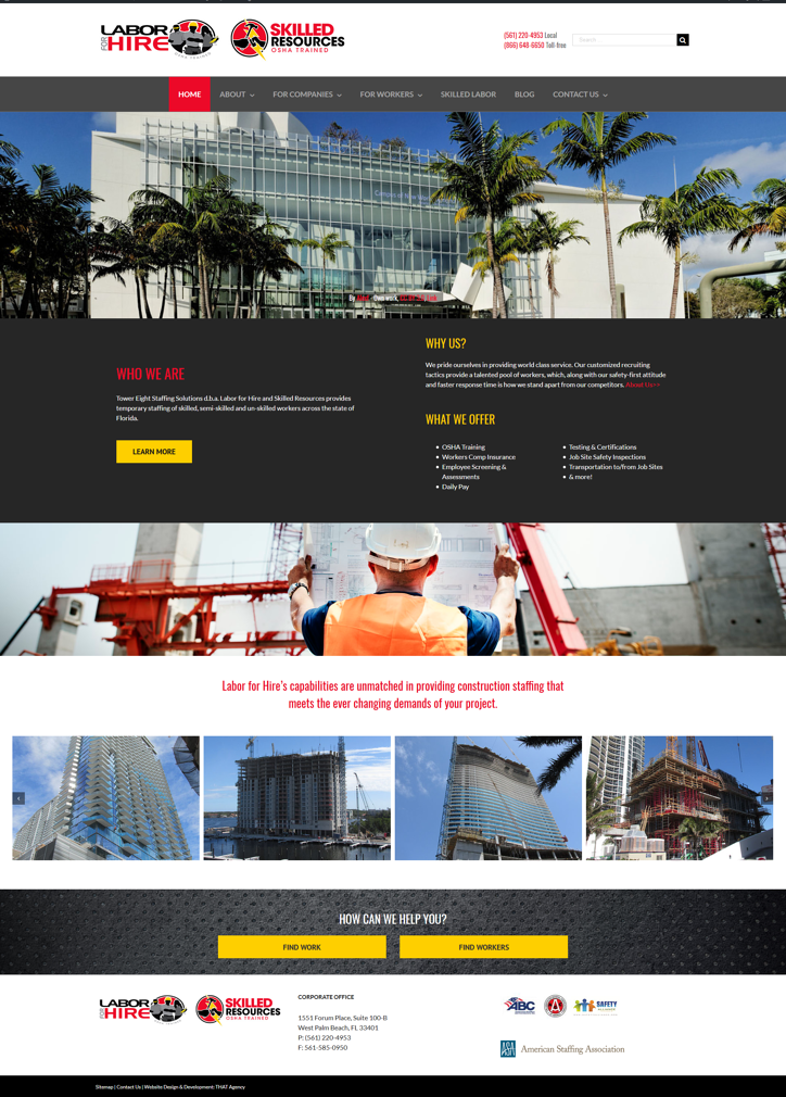 Labor For Hire New Website Redesign Case Study