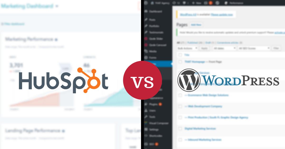 CMS Comparison: HubSpot vs. WordPress | THAT Agency