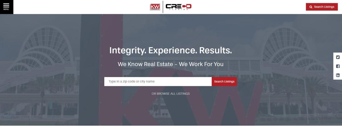 Real Estate Website Design Companies | Commercial Real Estate Website Design | THAT Agency