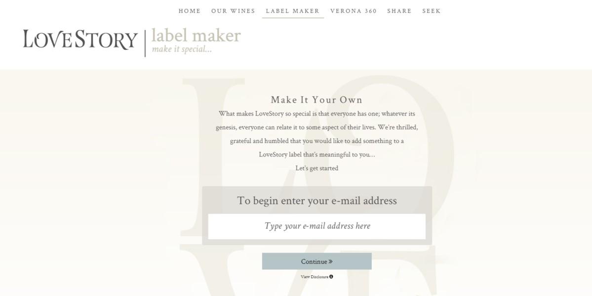 LoveStory Custom Label Maker   Digital Marketing Company   THAT Agency