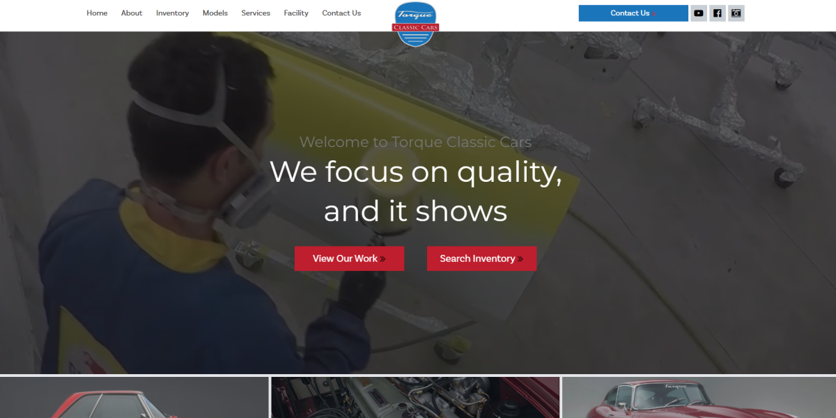 New Website | Torque Classic Cars | Palm Beach Web Design and Development Company | THAT Agency