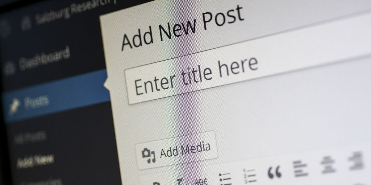 A WordPress blog post in editing mode, illustrating that content is one of the top SMB digital marketing challenges