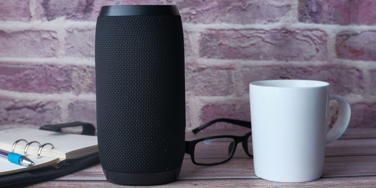 An Amazon Echo smart device ready to conduct voice search for business