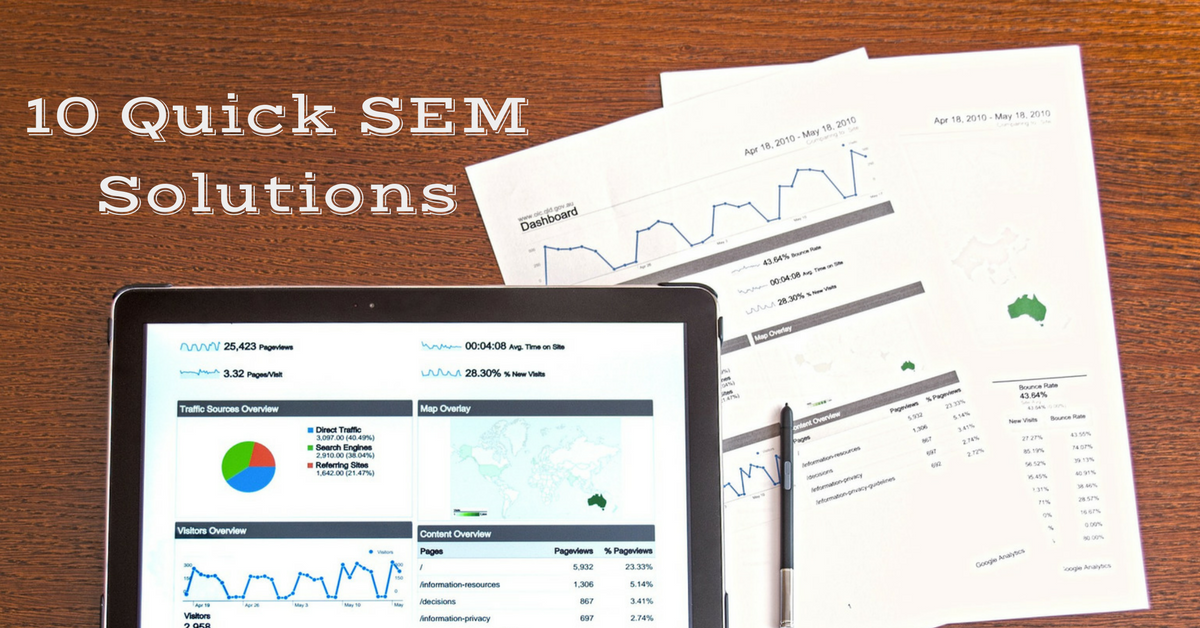 10 Quick Search Engine Marketing Solutions