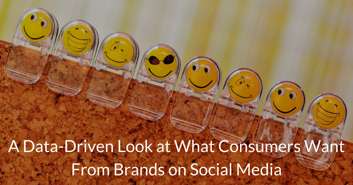 A Data-Driven Look at What Consumers Want From Brands on Social Media