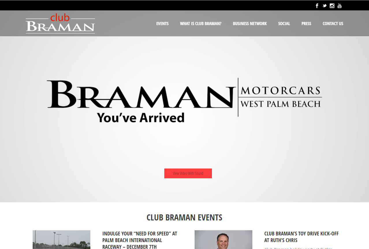 THAT Agency Builds Experiential Website for Braman Motorcars' Club Braman