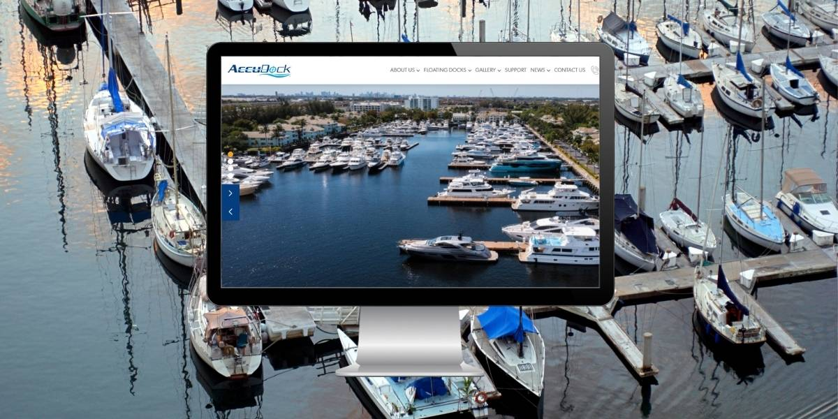 concept image of accudock new website